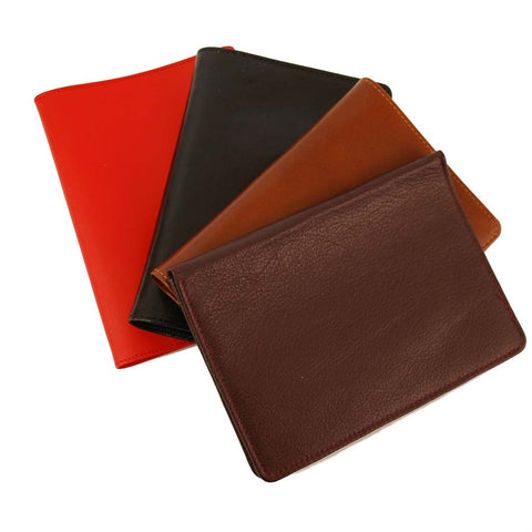 Charing Cross Passport Cover | Smooth Calf Leather | Silk Lining | Made in England | Sterling and Burke-Passport Case-Sterling-and-Burke