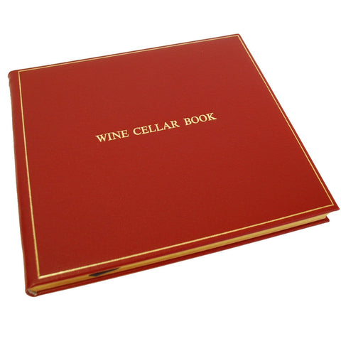 Charing Cross Wine Cellar Book in Burgundy Calf Leather
