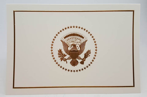 2017 White House Christmas Card Sample | President Trump | Hand Engraving, Foil Stamping and Printing Example