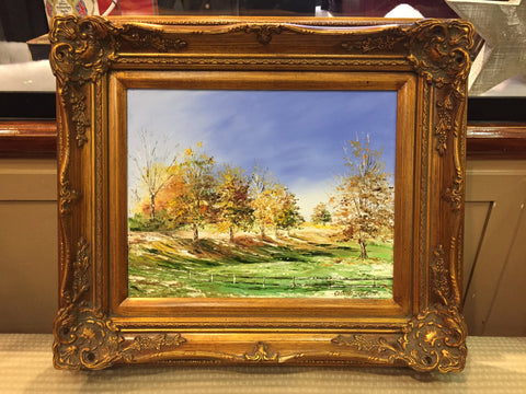 Golf Course at Brentwood | Original Oil Painting | 21 by 17.5 inches | Artist Claire Howard-Oil Painting-Sterling-and-Burke