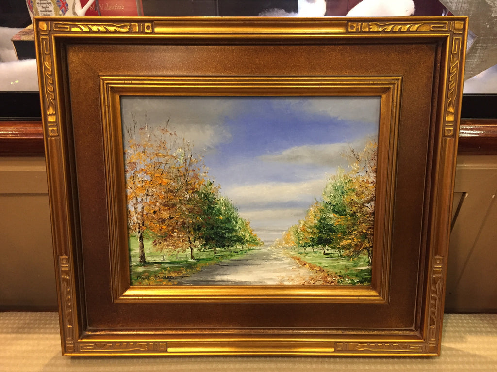 "Art | October Lane I Original Oil Painting by Claire Howard | 11"" x 14""-Oil Painting-Sterling-and-Burke"