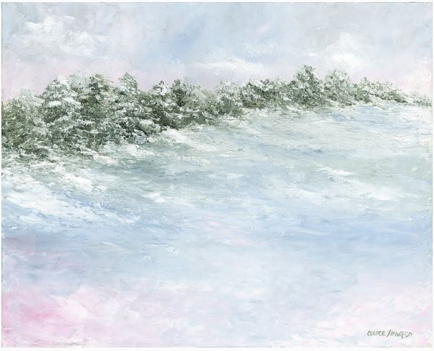 "Art | Snow Pines | Original Oil Painting by Claire Howard | 24"" x 30""-Oil Painting-Sterling-and-Burke"