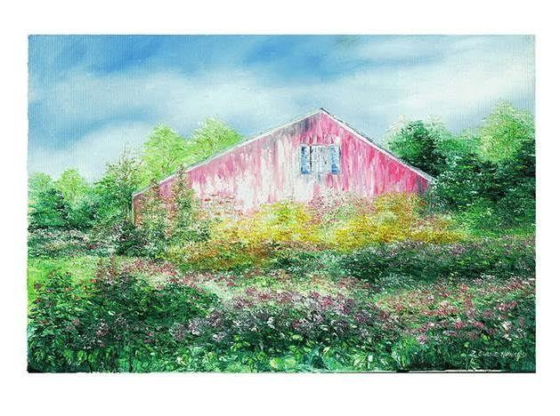 "Art | Summer Fields | Giclee by Claire Howard | 5"" x 7'-Giclee Print-Sterling-and-Burke"