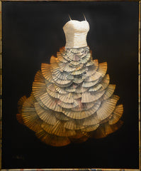 Craig Alan, Artist | Narrative Dress: Bouquet Bow | Mixed Media on Board | 48 by 60 Inches-Acrylic Painting-Sterling-and-Burke
