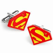 Superman Cufflinks | Silver | Red and Yellow | Sterling and Burke-Cufflinks-Sterling-and-Burke