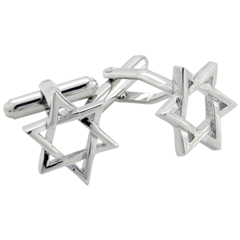 Novelty Cufflinks | Star of David Cufflinks | Silver | Sterling and Burke | Made in England
