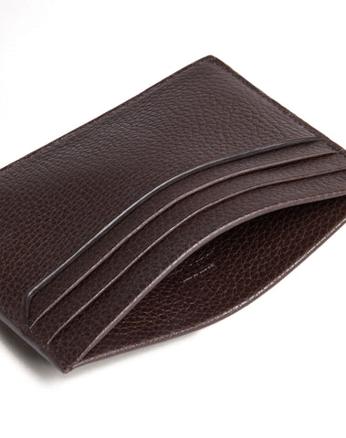 Dunhill Belgrave Card Case in Dark Chocolate-Wallet-Sterling-and-Burke