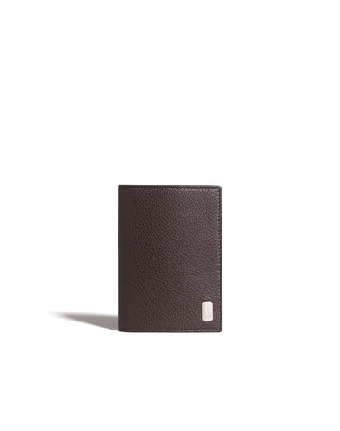 Dunhill Belgrave Business Card Case in Dark Chocolate-Wallet-Sterling-and-Burke
