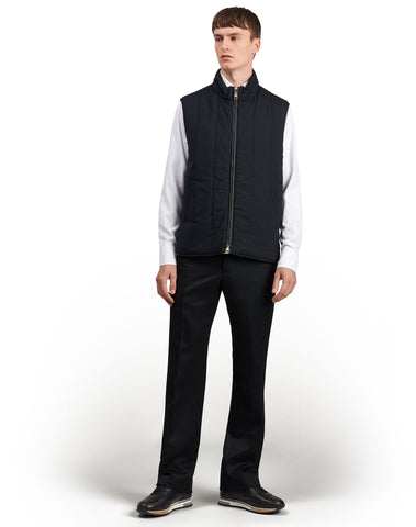 Dunhill Radial Quilted Gilet in Navy