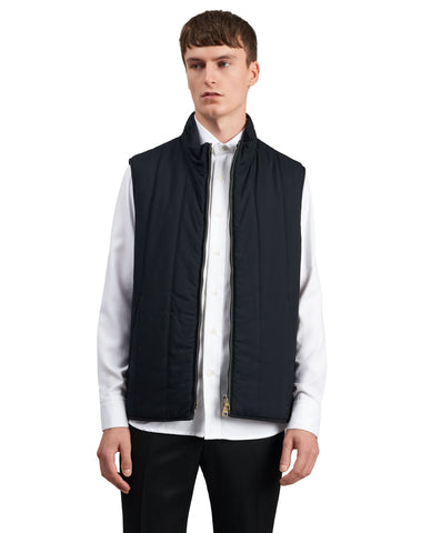Dunhill Radial Quilted Gilet in Navy-Outerwear-Sterling-and-Burke