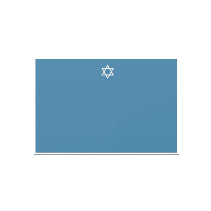 Star of David hand engraved Single Card by Dempsey and Carroll-Stationery-Sterling-and-Burke
