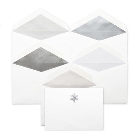 Petite Snowflake Stationery Set by Dempsey and Carroll-Stationery-Sterling-and-Burke