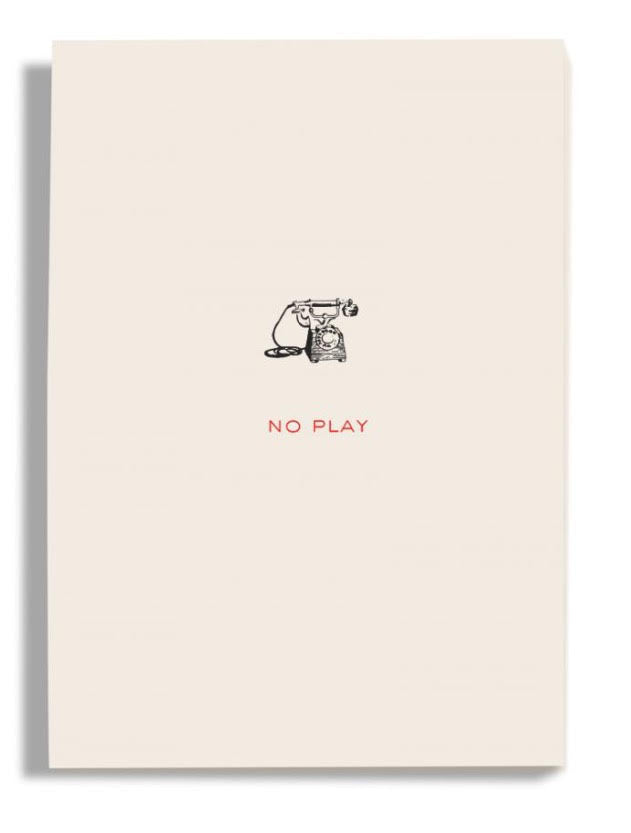 NO PLAY paper pad, engraved, fine quality by Dempsey and Carroll fun stationery