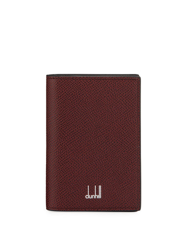 Dunhill Cadogan Bicolor Business Card Case in Burgundy and Black-Wallet-Sterling-and-Burke