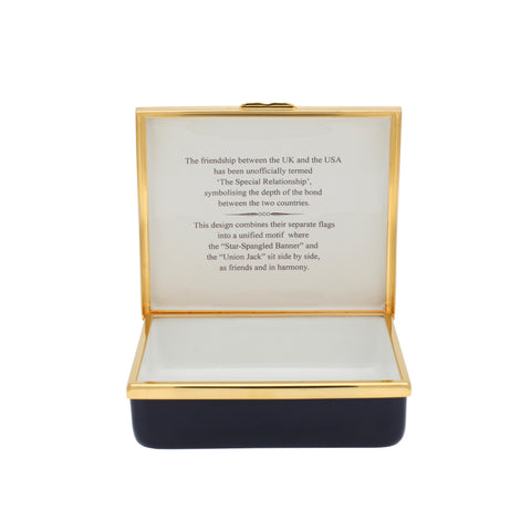 "A Very Special Relationship Collection | Large Enamel Box | ""A Very Special Relationship"" Box 