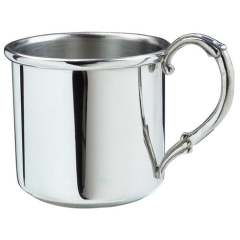 Baby Cup | Easton Baby Cup | 5 oz. | Solid Pewter | Engraved | Made in USA | Sterling and Burke