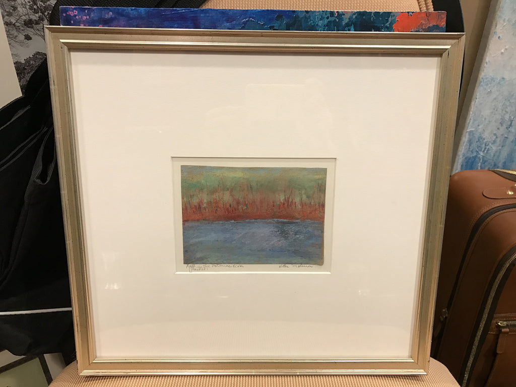 "Art | Fall in the Potomac by Elba Molina | Pastel | 14"" by 15""-Pastel-Sterling-and-Burke"