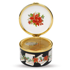 Christmas Enamels | Holly and the Ivy Musical Enamel Box | Happy Christmas | Merry Christmas | Holiday Decoration | Holiday and Winter Enamels Decoration | Halcyon Days | Made in England-Musical Enamel Box-Sterling-and-Burke