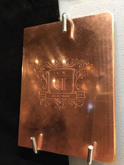 """"" Copper Engraving Plate $85 