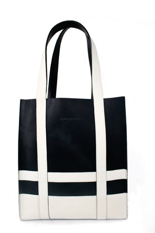The Erik Tote Tall, Navy & White-Handbag-Sterling-and-Burke