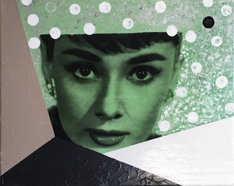 Art | Audrey | Original Acrylic on Gallery Canvas by Fabiano Amin-Mixed Media-Sterling-and-Burke