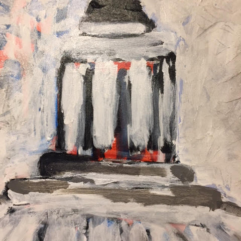 "Art | Capitol Dome | Acrylic Painting on Canvas by Fabiano Amin | 36"" x 24""-Acrylic Painting-Sterling-and-Burke"