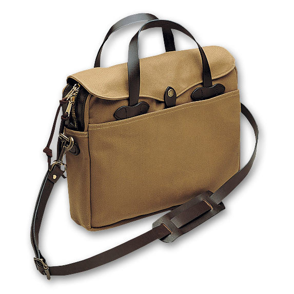 Original Twill Briefcase | Canvas Twill and Leather | Made in America | FILSON-Briefcase-Sterling-and-Burke