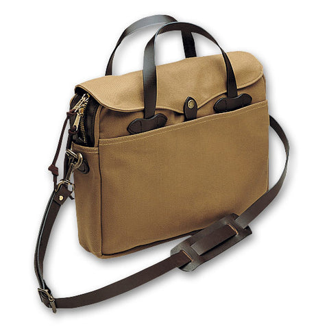 Original Twill Briefcase | Canvas Twill and Leather | Made in America | FILSON