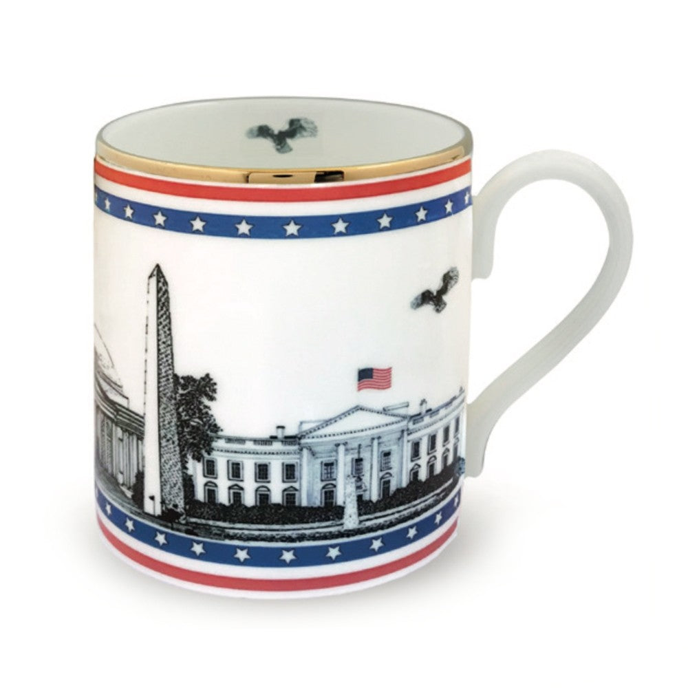 Halcyon Days Washington Landmarks Mug-Bone China-Sterling-and-Burke