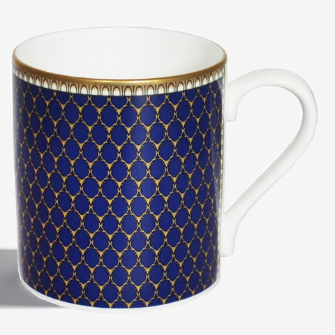 Fine English Bone China | Antler Trellis Mug | Midnight | Halcyon Days | Made in England