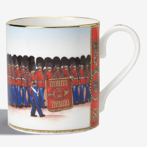 Halcyon Days Trooping the Colour Mug-Bone China-Sterling-and-Burke