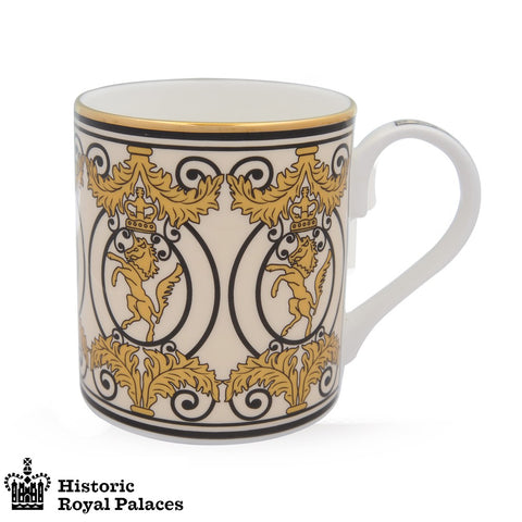 Fine English Bone China | Kensington Palace Gates Mug | Halcyon Days | Made in England