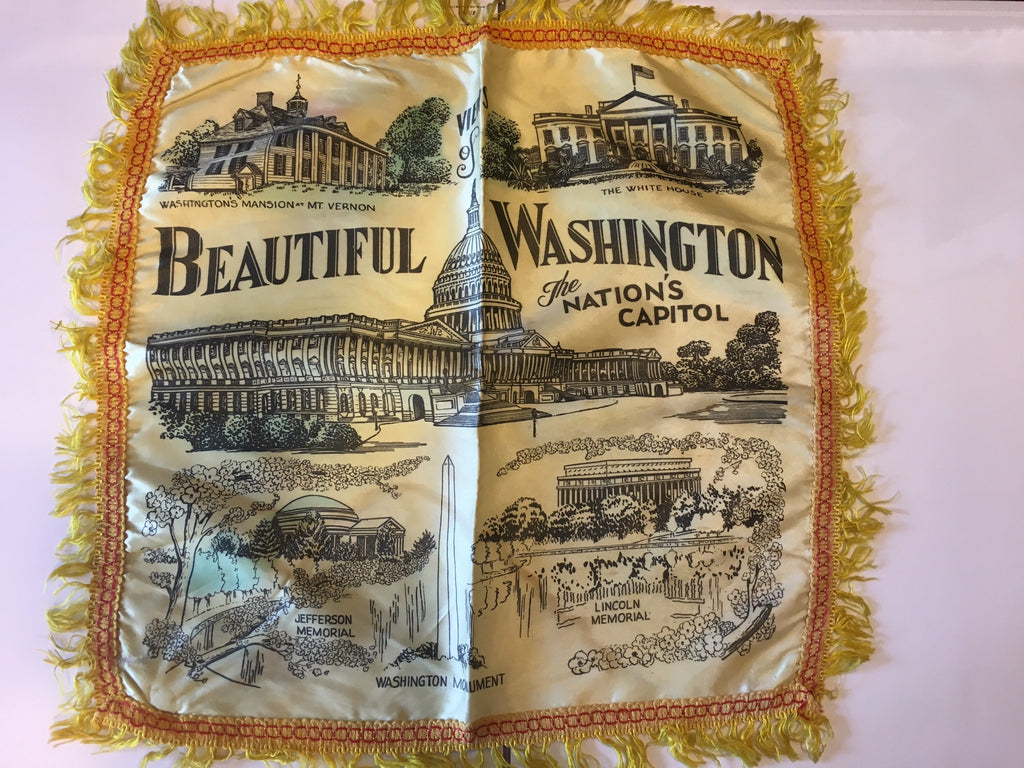 "Views of Beautiful Washington: The Nation's Capitol | Vintage Pillow Cover | 20"" x 19""-Pillow Cover-Sterling-and-Burke"