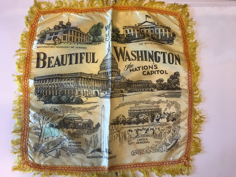 "Views of Beautiful Washington: The Nation's Capitol | Vintage Pillow Cover | 20"" x 19"""