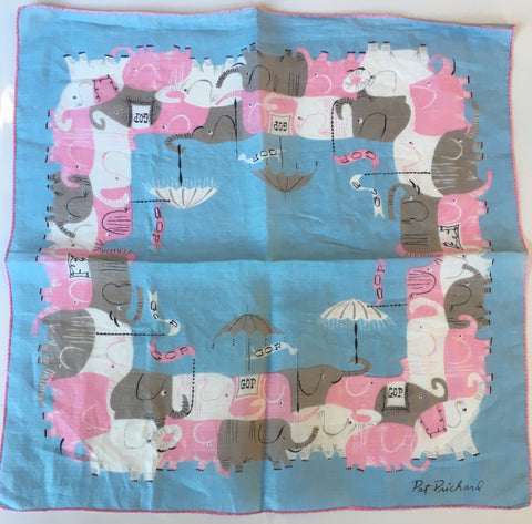 "Pat Prichard GOP | Vintage Flag Handkerchief | 14.5"" by 14.5"""