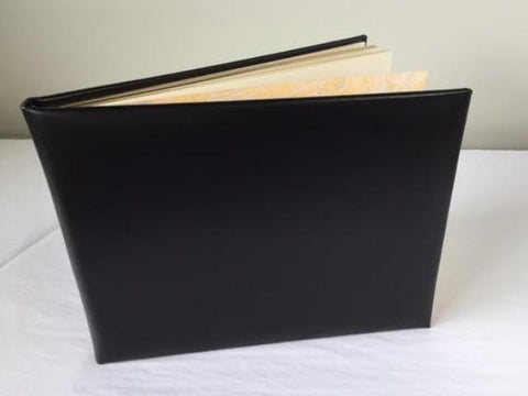 Funeral Guest Book | Black Calf Leather Condolence Book | Funeral Registry | Sympathy Book | Made in England | Charing Cross