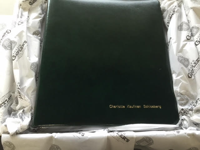 Ring Binder | Leather Condolence Book | Funeral Registry | Sympathy Book | Made in England | Charing Cross-Guest Book-Sterling-and-Burke
