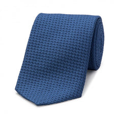 Budd Tie | Grenadine Tie | Various Colors | Budd Shirtmakers | Made in England-Cashmere Scarf-Sterling-and-Burke
