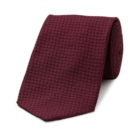Budd Tie | Grenadine Tie | Various Colors | Budd Shirtmakers | Made in England