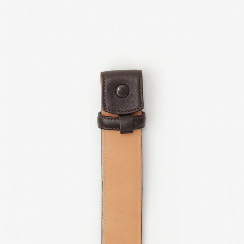 Genuine Glove Leather 1 Inch Belt Strap, Brown-Belt Strap-Sterling-and-Burke
