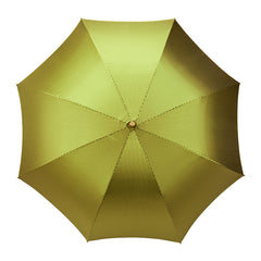 Vertical Stripe Poly-Cotton Umbrella in Green and Yellow-Umbrella-Sterling-and-Burke