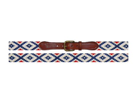 Gaucho Rojo Needlepoint Belt