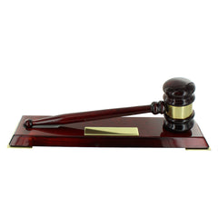 Gavel Award on Luxury Wood Base | Gavel with Engraving | Custom Engraved Award-Award-Sterling-and-Burke