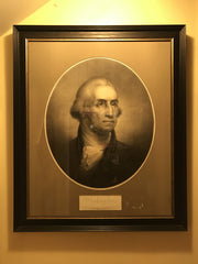 George Washington Portrait | Lithograph | 36 by 30 Inches-Lithograph-Sterling-and-Burke