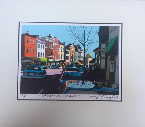 Georgetown Univ Art | Georgetown University | Wisconsin Avenue | Georgetown, Washington, DC | Artist Joseph Craig English | 11 by 14 Inches