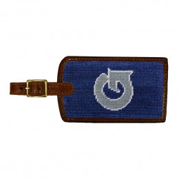 Needlepoint Collection | Georgetown University Needlepoint Luggage Tag | Hoya | Blue and Grey | Smathers and Branson
