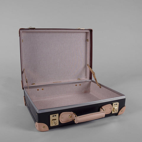 Safari Collection | 16 Inch Slim Attache Case | Ivory | Brown | Globe-Trotter Luggage-Attache-Sterling-and-Burke