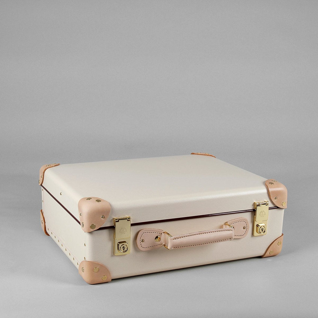 Safari Collection | 18 Inch Air Cabin Case | Ivory | Brown | Globe-Trotter Luggage-Suitcase-Sterling-and-Burke