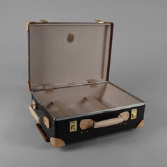 Safari Collection | 18 Inch Trolley Suitcase | Ivory | Brown | Globe-Trotter Luggage-Wheeled Luggage-Sterling-and-Burke