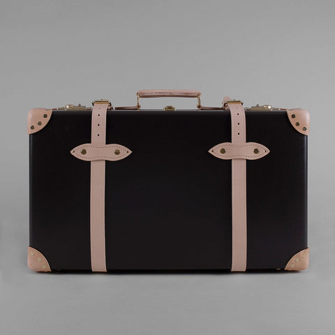 Safari Collection | 26 Inch Suitcase | Ivory | Brown | Globe-Trotter Luggage-Suitcase-Sterling-and-Burke